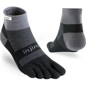 Injinji Run Midweight Mini Crew Socks, black /gray